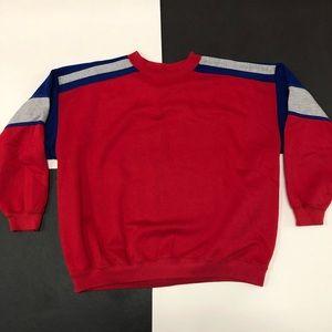 VINTAGE COLOR BLOCK CREWNECK sweatshirt